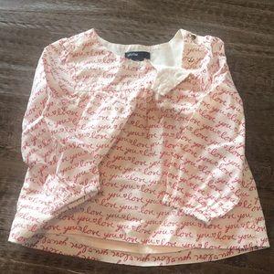 Valentines Day Baby Gap shirt